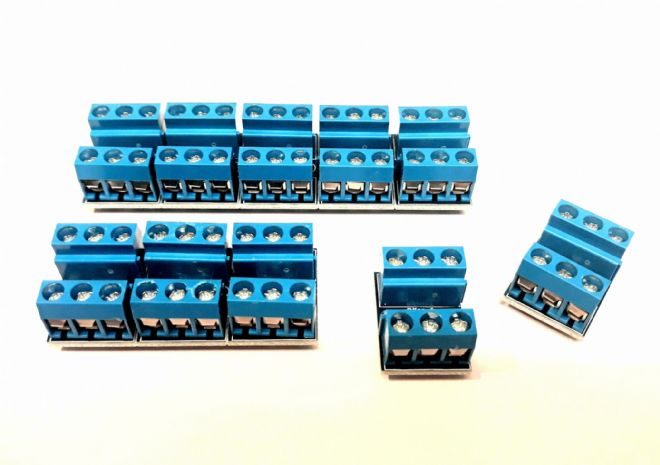 RKcon1 (Pack of 10) Wiring Module for Model Railway - Constructed